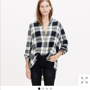 Madewell oversized boy shirt in flannel